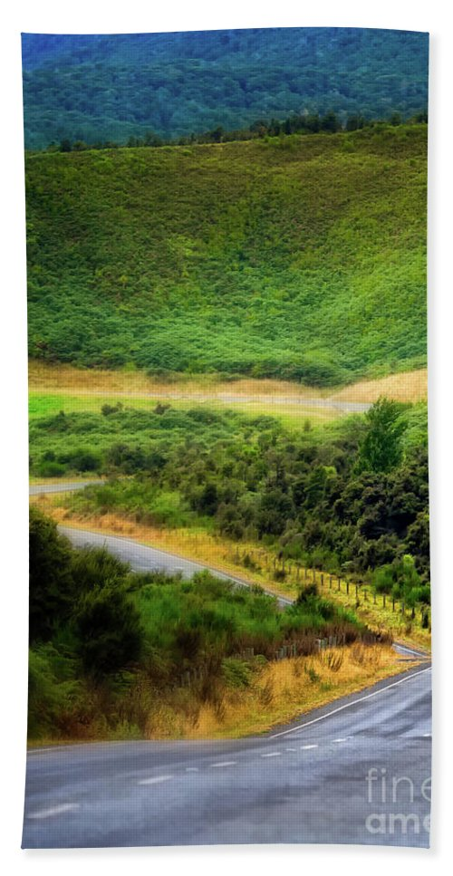 New Zealand Bath Sheet featuring the photograph The Road To Milford Sound by Doug Sturgess