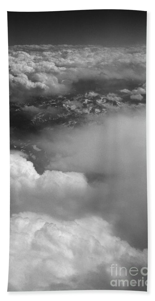 Aerial Photography Bath Sheet featuring the photograph The Rockies by Richard Rizzo