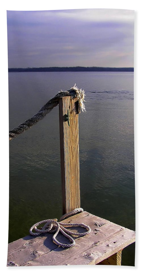 Rope Hand Towel featuring the photograph The Ropewalk by Charles Harden