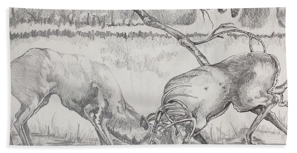 Chiaroscuro Bath Sheet featuring the drawing The Rut by Laurel Adams
