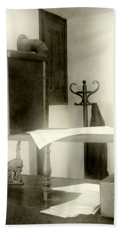 Antiques Hand Towel featuring the photograph The Safe In The Wall by RC DeWinter