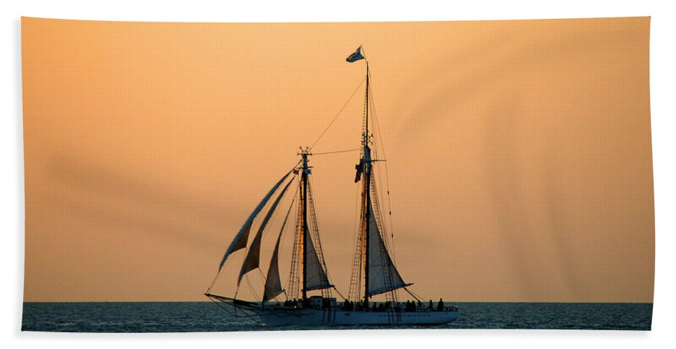 Boat Bath Sheet featuring the photograph The Schooner America by Susanne Van Hulst