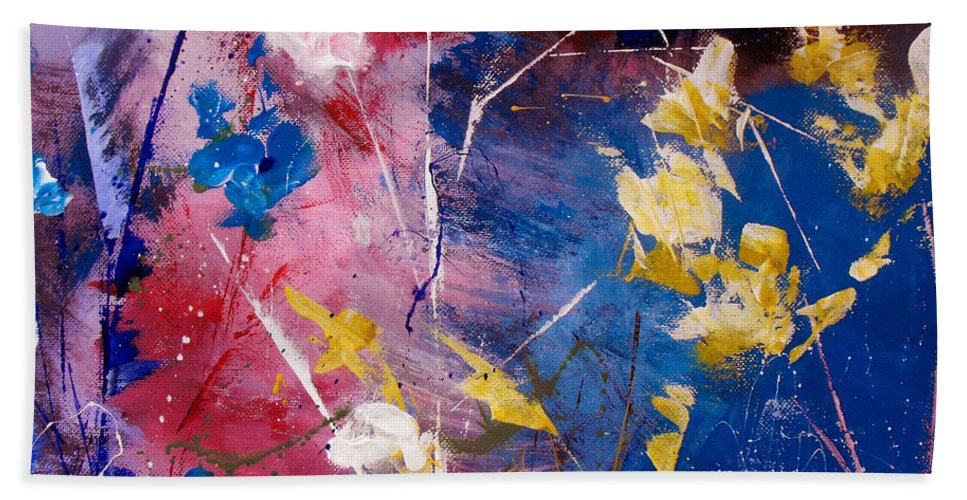 Acrylic Bath Sheet featuring the painting The Season Of Singing Has Come by Ruth Palmer