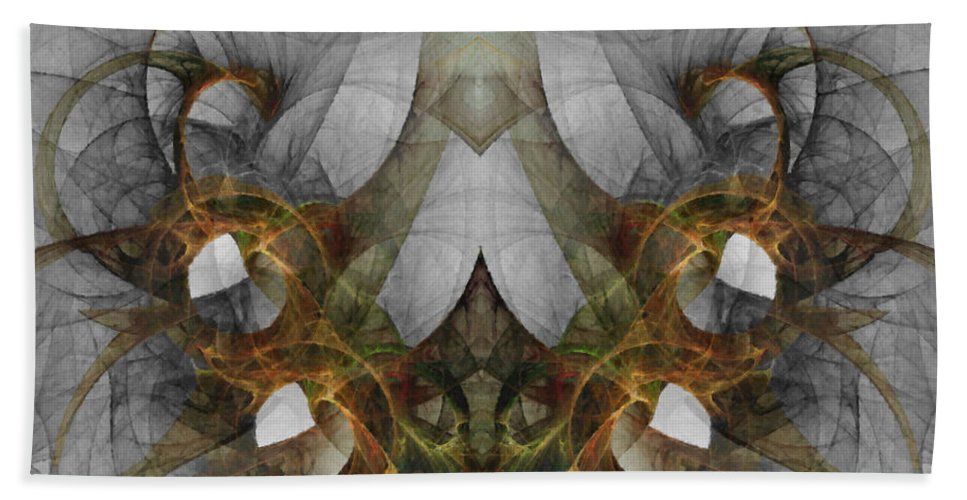 Abstract Hand Towel featuring the digital art The Second Labor Of Herakles by NirvanaBlues