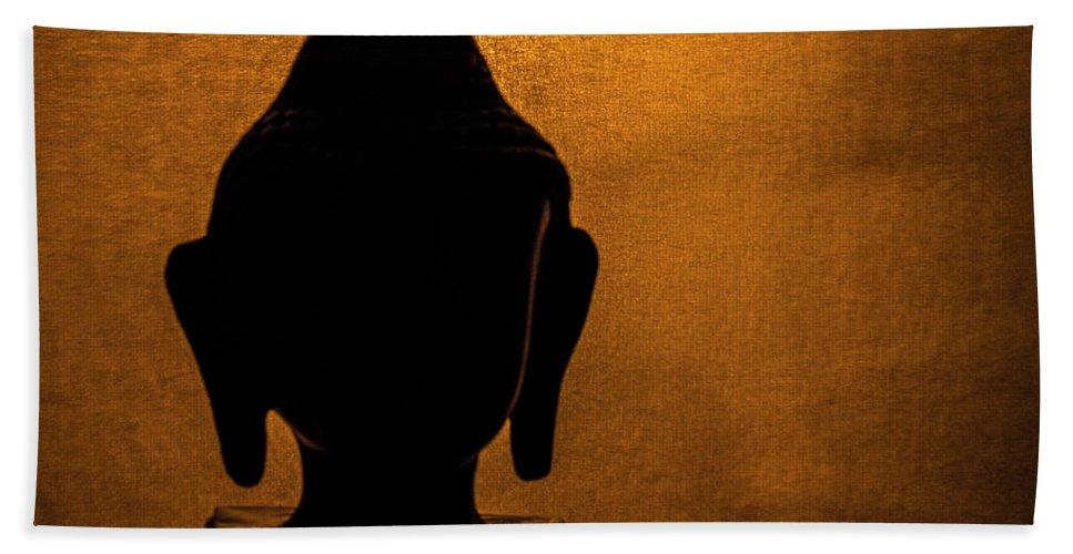 Calm Hand Towel featuring the photograph The Serene Buddha by Girija Shirurkar