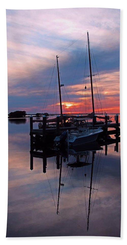 Sunset Hand Towel featuring the photograph The Seventh Hope by Michiale Schneider
