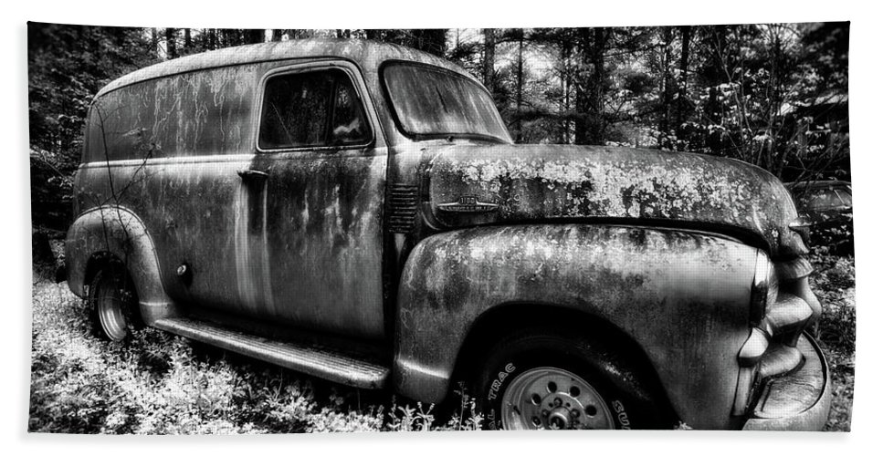 3100 Chevrolet Hand Towel featuring the photograph The Silver Ghost by Jim Erickson