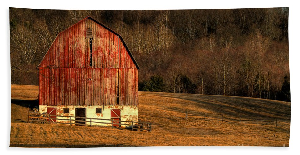 Barn Hand Towel featuring the photograph The Simple Life by Lois Bryan