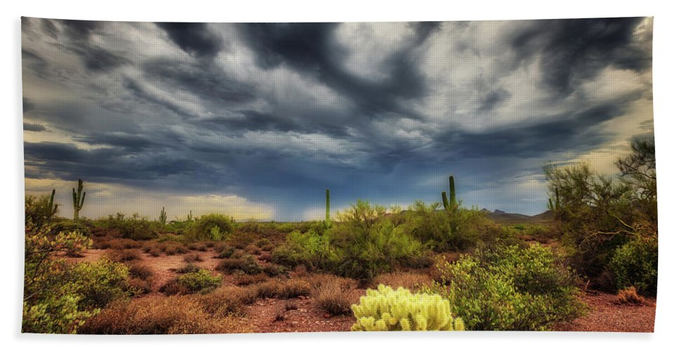 Agave Bath Sheet featuring the photograph The Smell Of Rain by Rick Furmanek