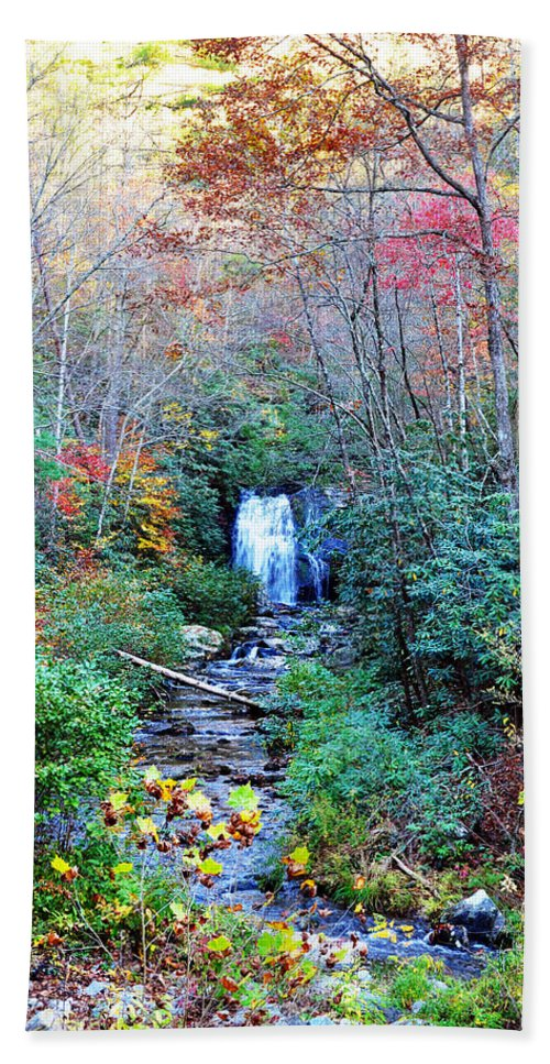 Smokey Mountain Bath Sheet featuring the photograph The Smokies by Brittany Horton