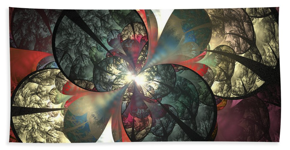 Fractal Hand Towel featuring the digital art The Soft Touch by Amorina Ashton