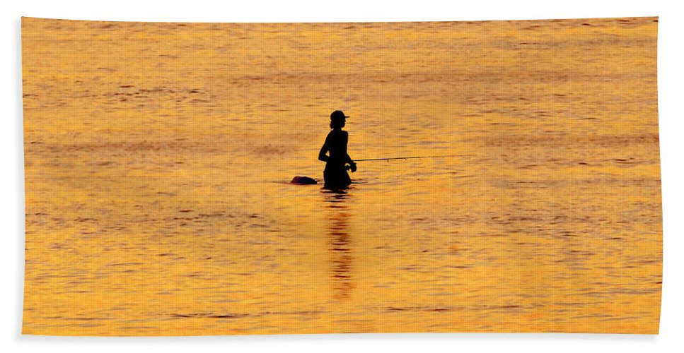 Fishing Hand Towel featuring the photograph The Son Of A Fisherman by David Lee Thompson