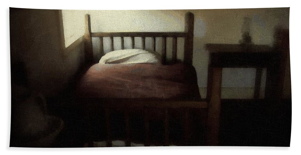 19th Century Bath Sheet featuring the painting The Spare Room by RC DeWinter