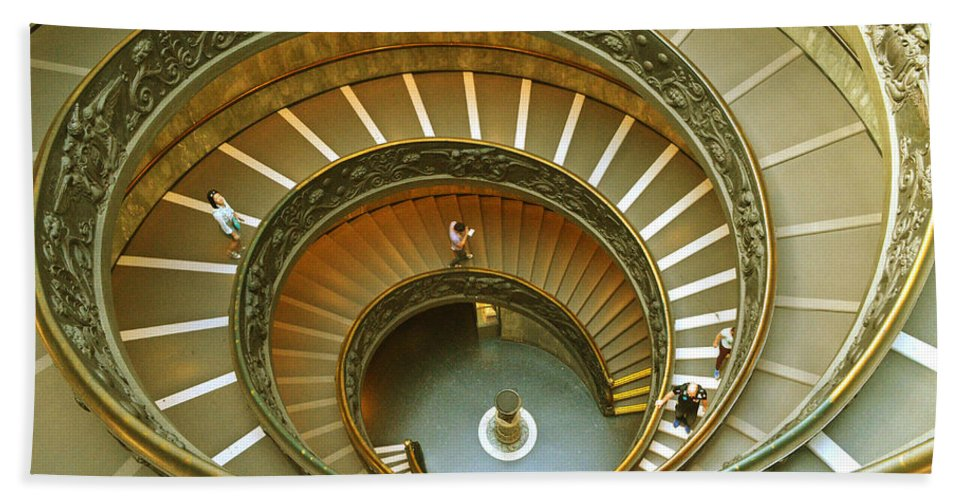 Vatican Bath Sheet featuring the photograph The Spiral Staircase by Rumiana Nikolova