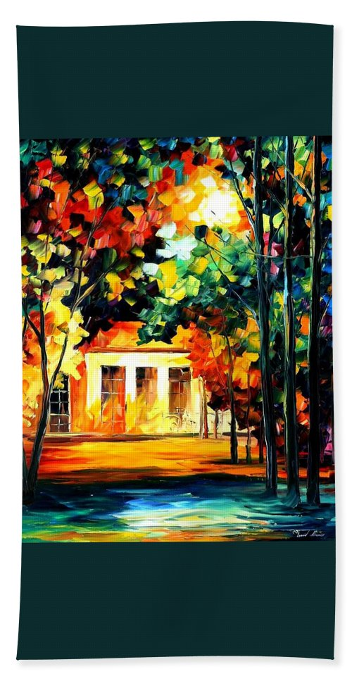 Afremov Bath Sheet featuring the painting The Spirit Of The Night by Leonid Afremov