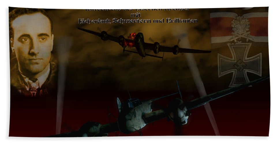 Me110 Hand Towel featuring the digital art The Spook Of St. Trond by Mil Merchant