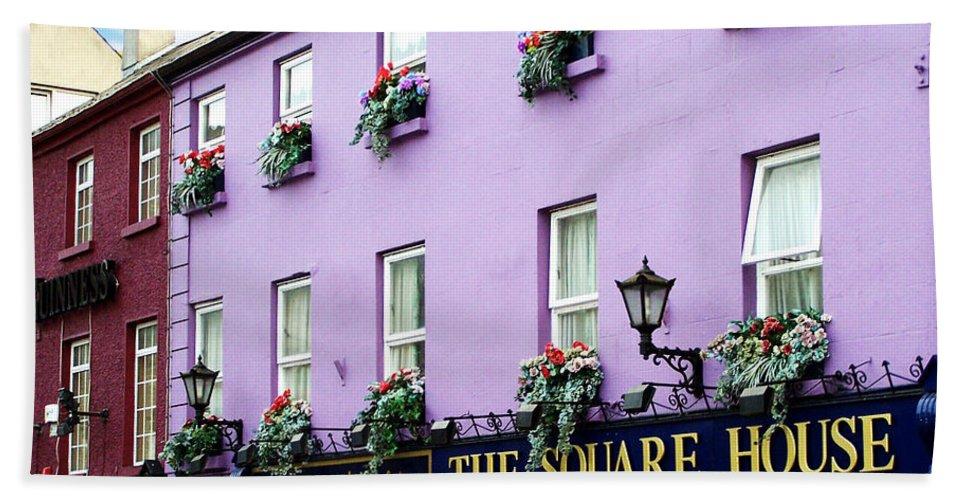 Irish Bath Towel featuring the photograph The Square House Athlone Ireland by Teresa Mucha