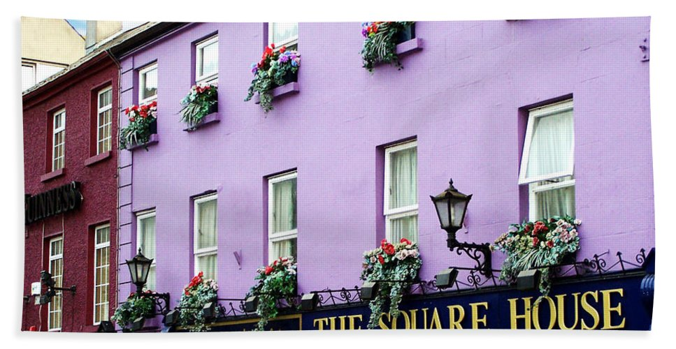 Irish Bath Sheet featuring the photograph The Square House Athlone Ireland by Teresa Mucha