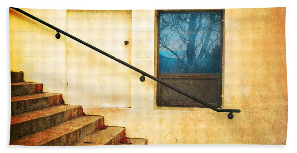Stairs Bath Sheet featuring the photograph The Stairway Of Reflections by Tara Turner