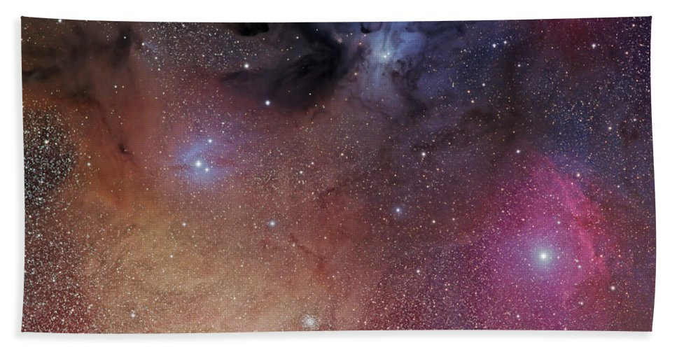 Ophiuchus Bath Sheet featuring the photograph The Starforming Region Of Rho Ophiuchus by Phillip Jones