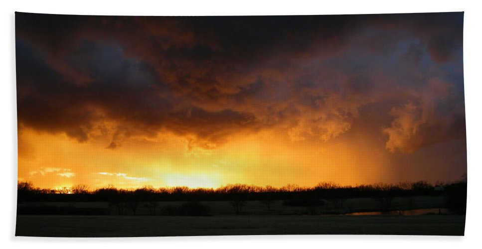 Storm Hand Towel featuring the photograph The Storm by Gale Cochran-Smith