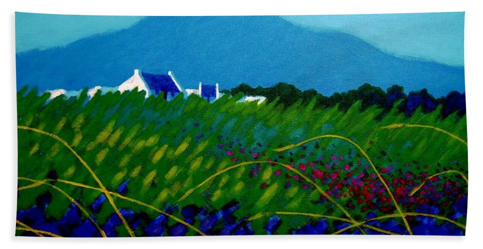 Irish Landscape Bath Sheet featuring the painting The Sugar Loaf County Wicklow Ireland by John Nolan