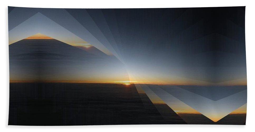 Sun Bath Sheet featuring the digital art The Sun Cometh by Tim Allen