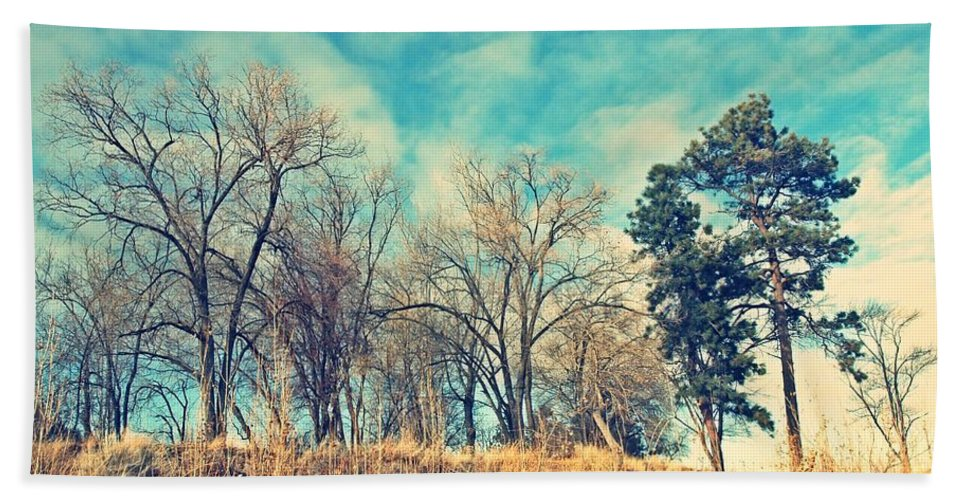 Cross Hand Towel featuring the photograph The Sunday Trees by Tara Turner