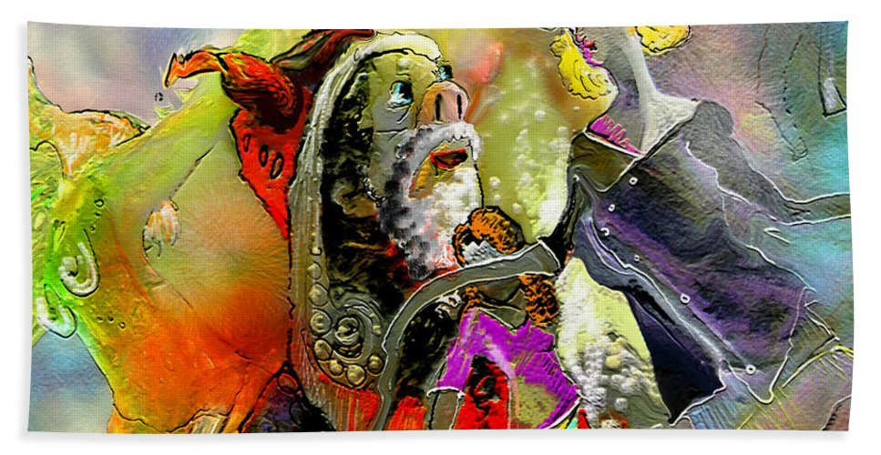 Fantasy Hand Towel featuring the painting The Sweeties 03 by Miki De Goodaboom