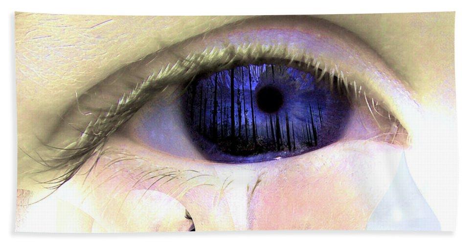 Eye Art Hand Towel featuring the digital art The Tear by P Donovan