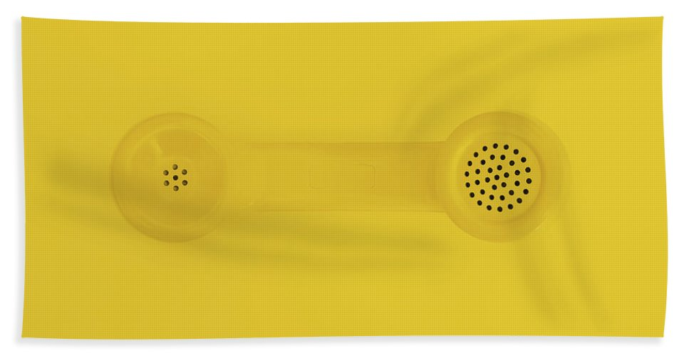 Telephone Bath Towel featuring the photograph The Telephone Handset by Scott Norris
