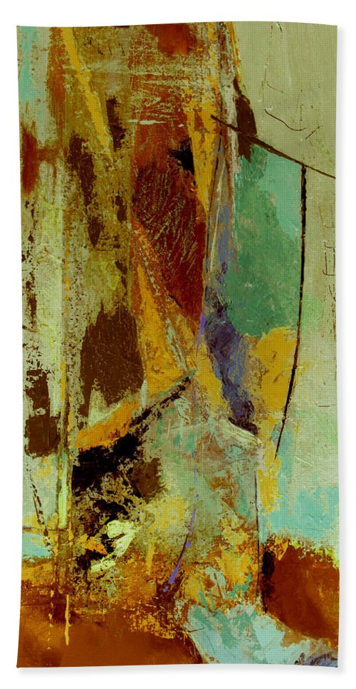 Abstract Bath Sheet featuring the painting The Testimony by Ruth Palmer