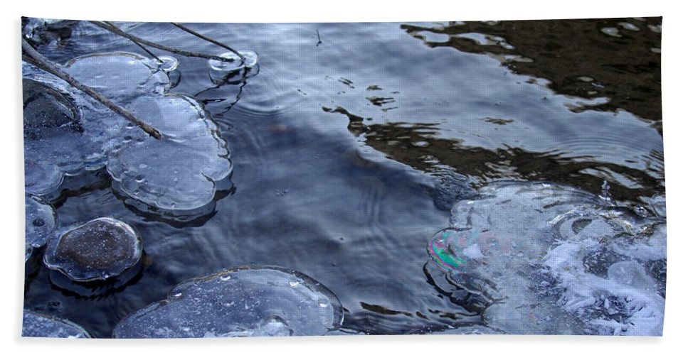 Ice Bath Sheet featuring the photograph The Thaw Is Coming by Donna Blackhall