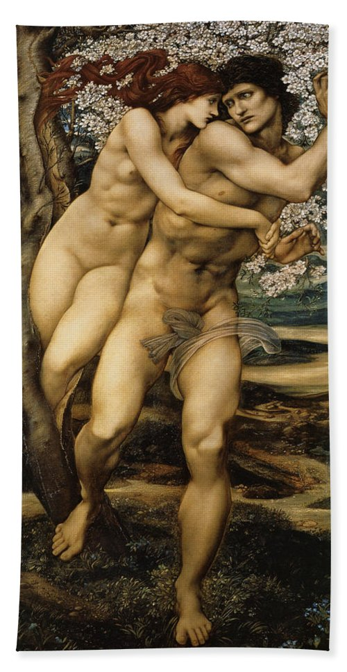 Edward Burne Jones Bath Sheet featuring the digital art The Tree Of Forgiveness by Edward Burne Jones