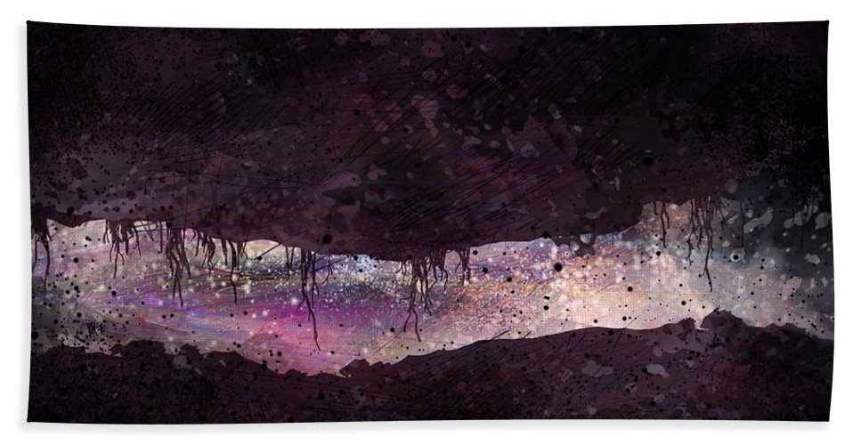 Tunnel Bath Towel featuring the digital art The Tunnel by William Russell Nowicki
