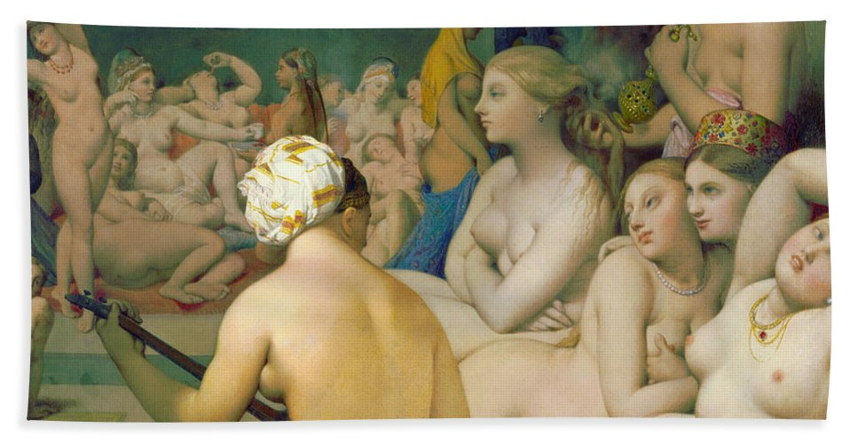 Bathers Hand Towel featuring the painting The Turkish Bath, Detail by Jean-Auguste-Dominique Ingres