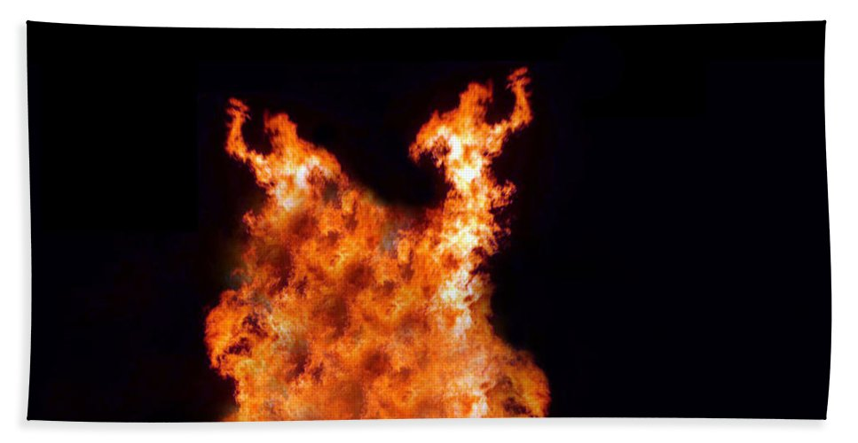 Fire Hand Towel featuring the photograph The Twin by Munir Alawi
