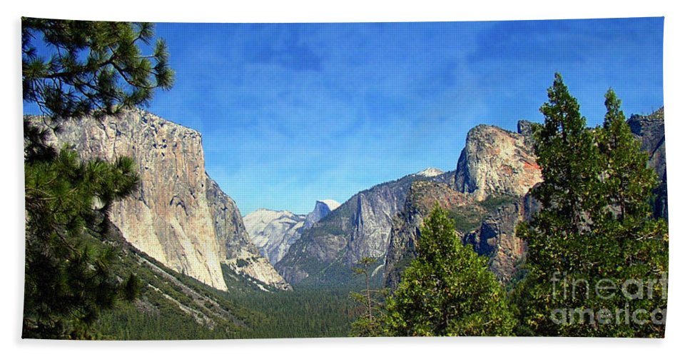Panoramic Bath Sheet featuring the photograph The Valley Of Inspiration-yosemite by Glenn McCarthy Art and Photography