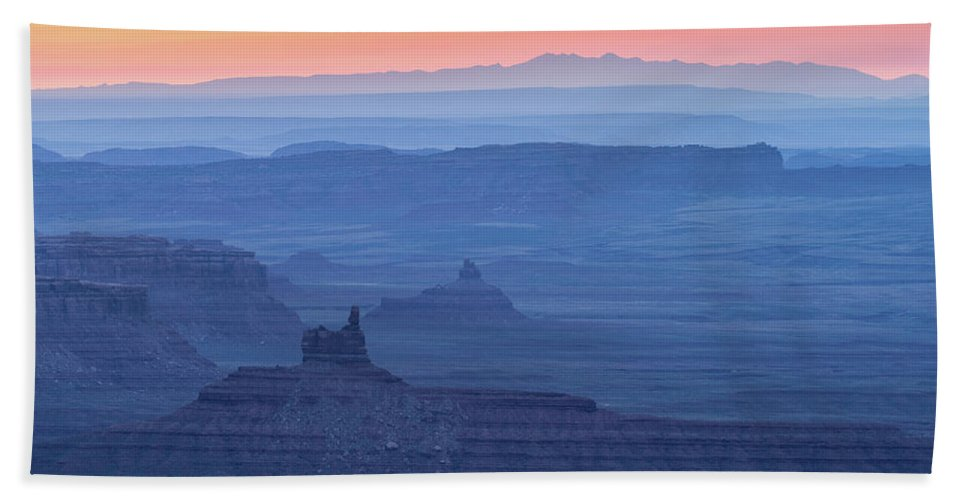 Desert Bath Sheet featuring the photograph The Valley Of The Gods by Keith Skelton