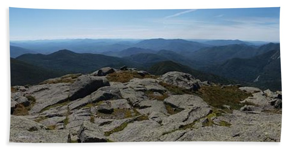 Adirondacks Bath Sheet featuring the photograph The View North From Mt. Marcy by Joshua House