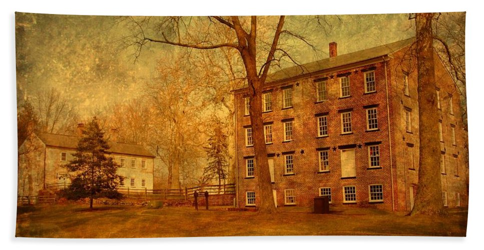 New Jersey Bath Sheet featuring the photograph The Village - Allaire State Park by Angie Tirado