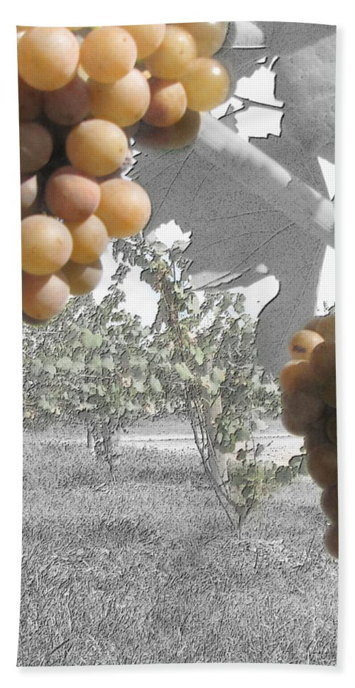 Grapes Hand Towel featuring the photograph The Vineyard 2 by September Stone