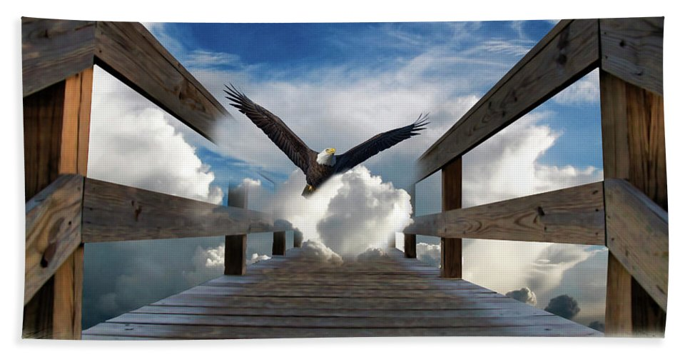 Eagle Hand Towel featuring the photograph The Walkway by TJ Baccari