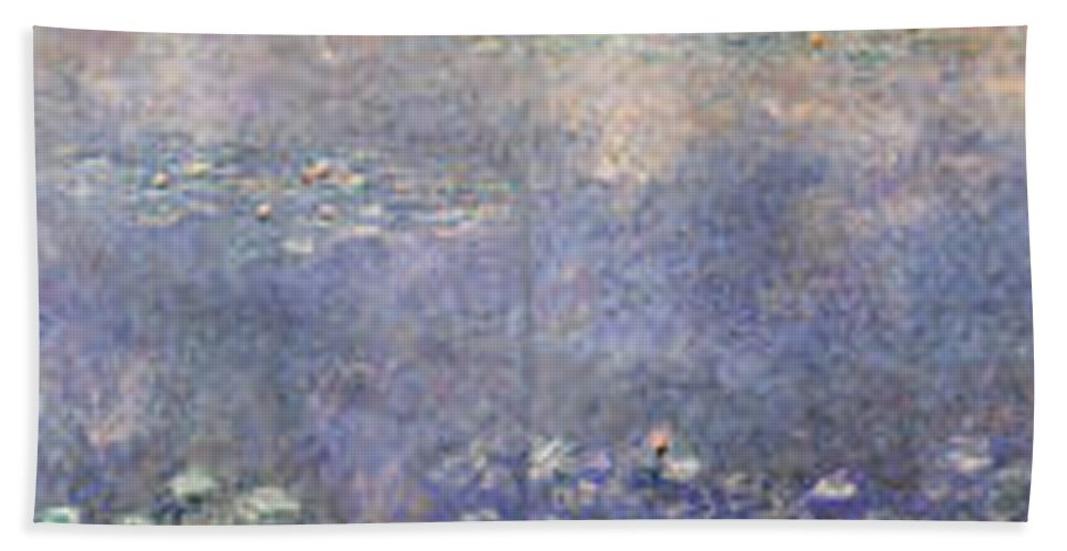 Claude Monet Hand Towel featuring the painting The Water Lilies, The Two Willows by Claude Monet