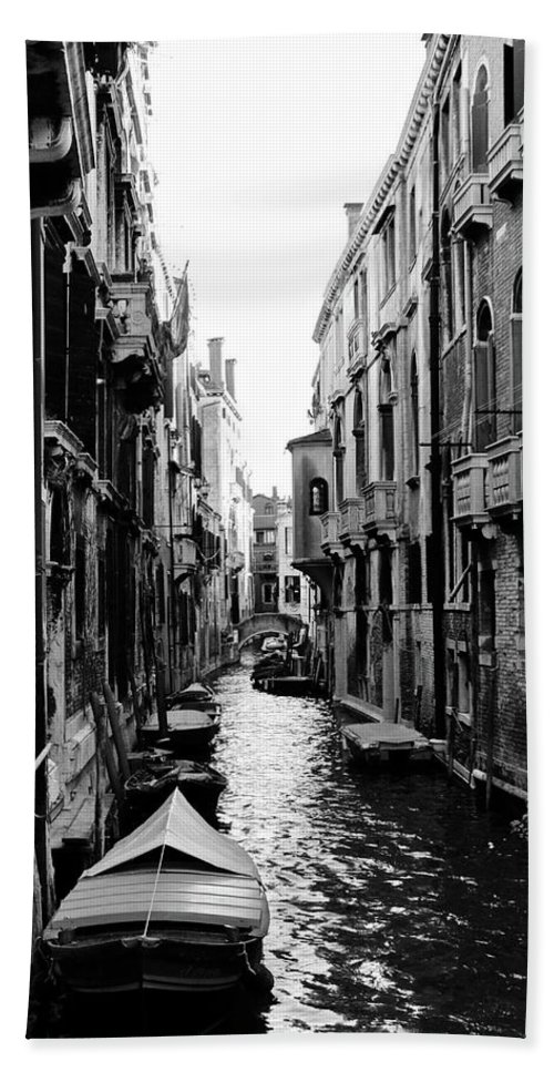 Venice Streets Bath Sheet featuring the photograph The Waterways Of Venice by Shelly John