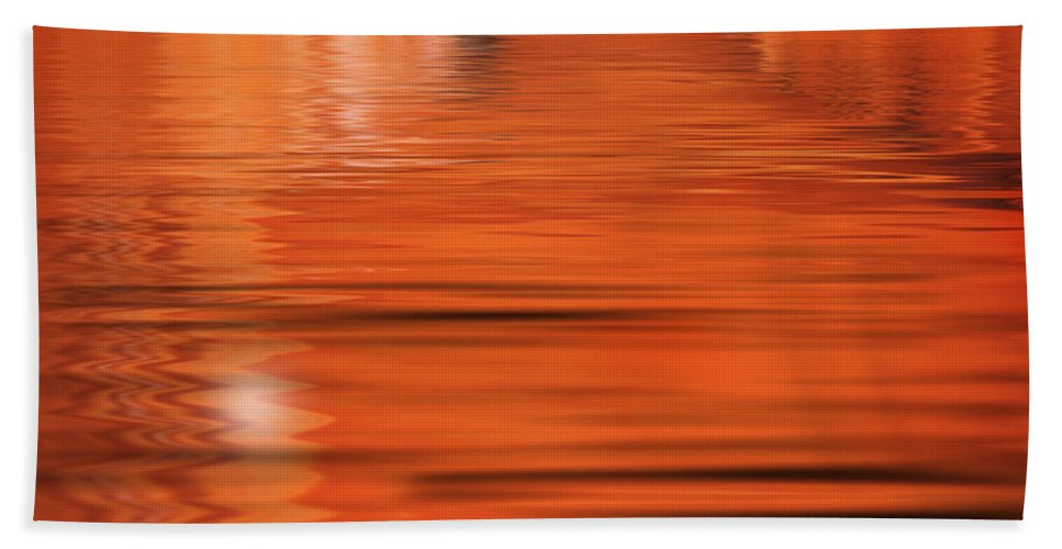 Orange Hand Towel featuring the photograph The Way by Jacky Gerritsen