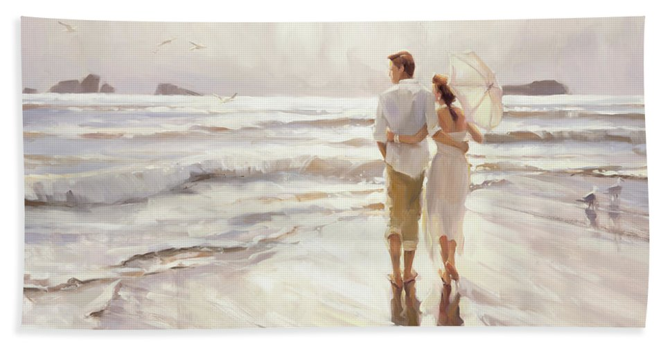 Love Bath Towel featuring the painting The Way That It Should Be by Steve Henderson