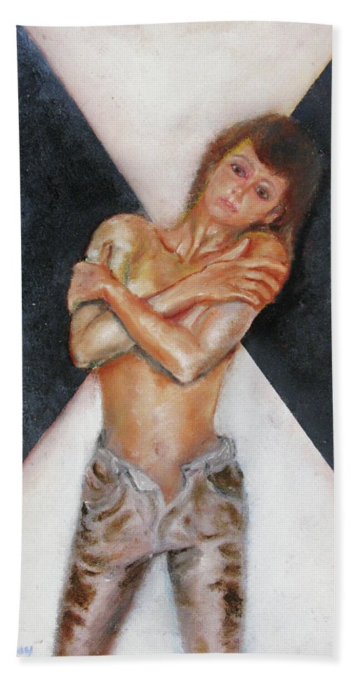 Females Bath Sheet featuring the painting The Way You Make Me Feel by Tom Conway