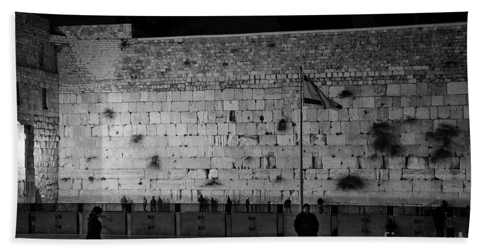 Western Wall Hand Towel featuring the photograph The Western Wall, Jerusalem by Perry Rodriguez