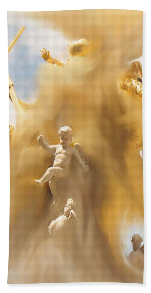 Religion Hand Towel featuring the digital art The Whirlwind by Ian MacDonald
